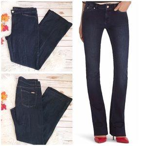 WHBM Skinny Flare Stretchy Dark Wash Jeans Size 14